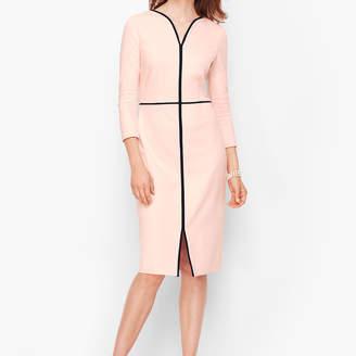 Talbots Tipped Ponte Sheath Dress - Scallop Pink