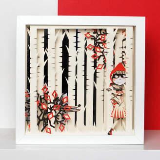 Papercult Design Framed Red Riding Hood Fairytale Papercut Art