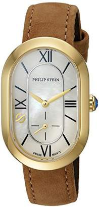 Philip Stein Teslar Women's Modern Stainless Steel Swiss-Quartz Watch with Leather-Calfskin Strap