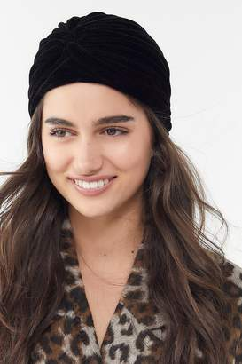 Urban Outfitters Velvet Wrapped-Front Beanie