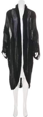 Donna Karan Longline Wool Cardigan