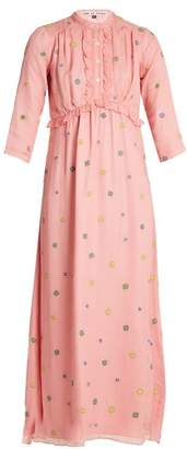 Jupe By Jackie - Banff Embroidered Silk Chiffon Dress - Womens - Pink