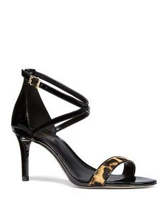 MICHAEL Michael Kors Ava Patent and Leopard Sandals