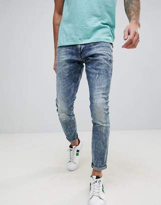 G Star G-Star 3301 Deconstructed Ripped Super Slim Jeans