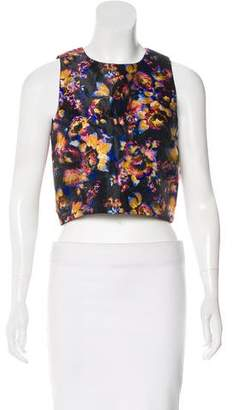 Nicole Miller Printed Crop Top