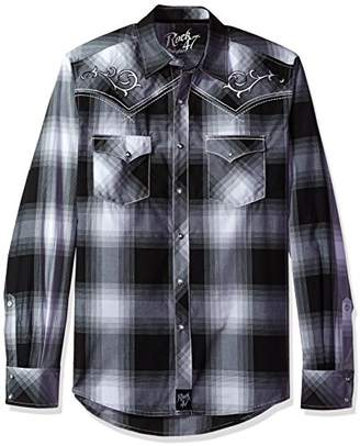 Wrangler Men's Rock 47 Long Sleeve Plaid Shirt