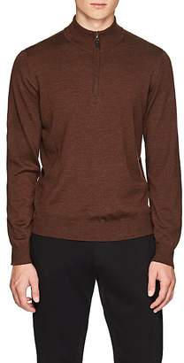 Piattelli MEN'S MERINO WOOL HALF-ZIP SWEATER