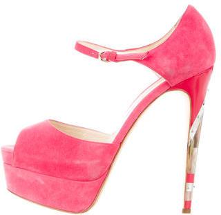 Brian Atwood Suede Platform Sandals $200 thestylecure.com