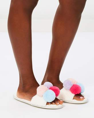 Missguided Pom Pom Slippers