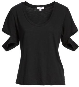 Women's Lna Sylvan Slit Sleeve Cotton Tee $86 thestylecure.com