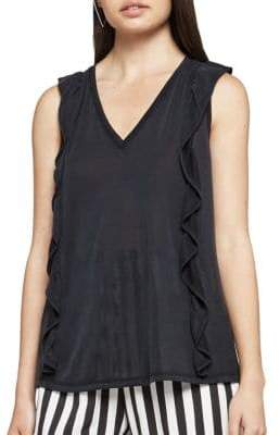 BCBGeneration Sleeveless Ruffle Top