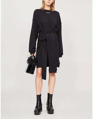 MSGM Tie-waist cotton-jersey dress