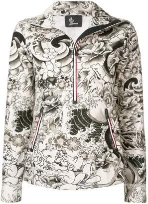 Moncler floral-print pullover