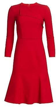 Oscar de la Renta Women's Flap-Top Stretch Wool Dress