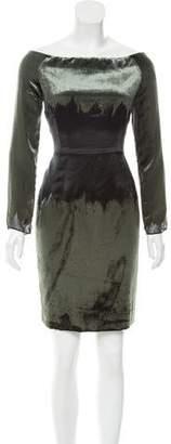 Proenza Schouler Velvet-Paneled Mini Dress