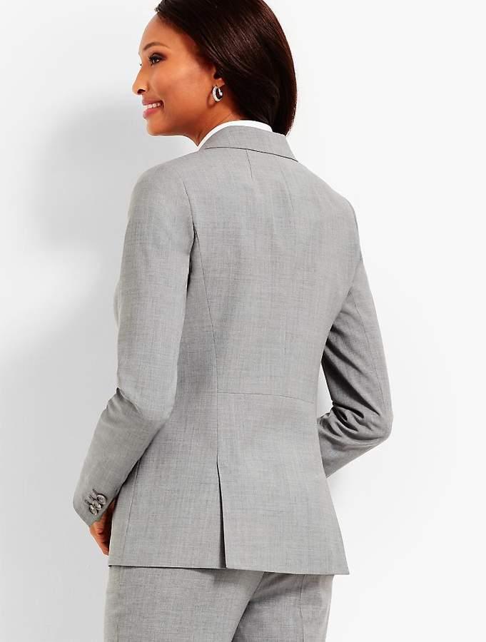Seasonless Wool Long Double-Button Blazer