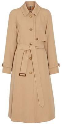 Burberry Wool Gabardine Trench Coat