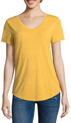 A.N.A Scoop Neck Tee Short Sleeve Scoop Neck T-Shirt-Womens