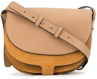 Cavallini Erika panelled saddle shoulder bag