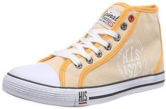 H.I.S Women's 158-007 Low-Top Sneakers Orange Size:
