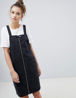 Only zip through denim pini dress
