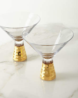 Michael Wainwright Truro Martini Glasses, Gold, Set of 2