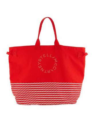 Stella McCartney Striped Large Beach Tote Bag
