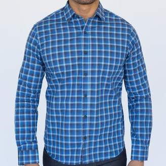 Blade + Blue Tonal Blue & White Mini Plaid Shirt - Wilson