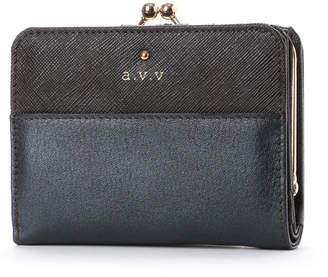 a.v.v (アー ヴェ ヴェ) - アー ヴェ ヴェ a.v.v がま口 二つ折財布 (ブラック)