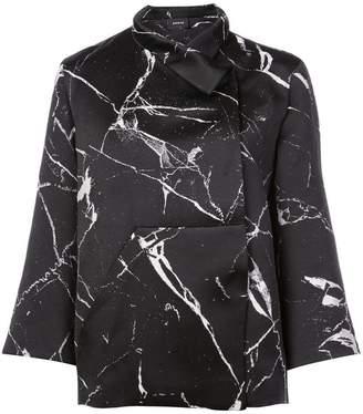 Akris marble print jacket