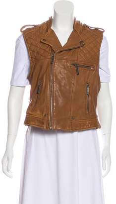 MICHAEL Michael Kors Quilted Leather Vest w/ Tags