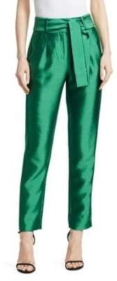 Maje Pack Cropped Straight-Leg Pants