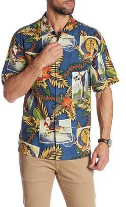 Tommy Bahama Tommy Holidays Short Sleeve Print Silk Original Fit Shirt