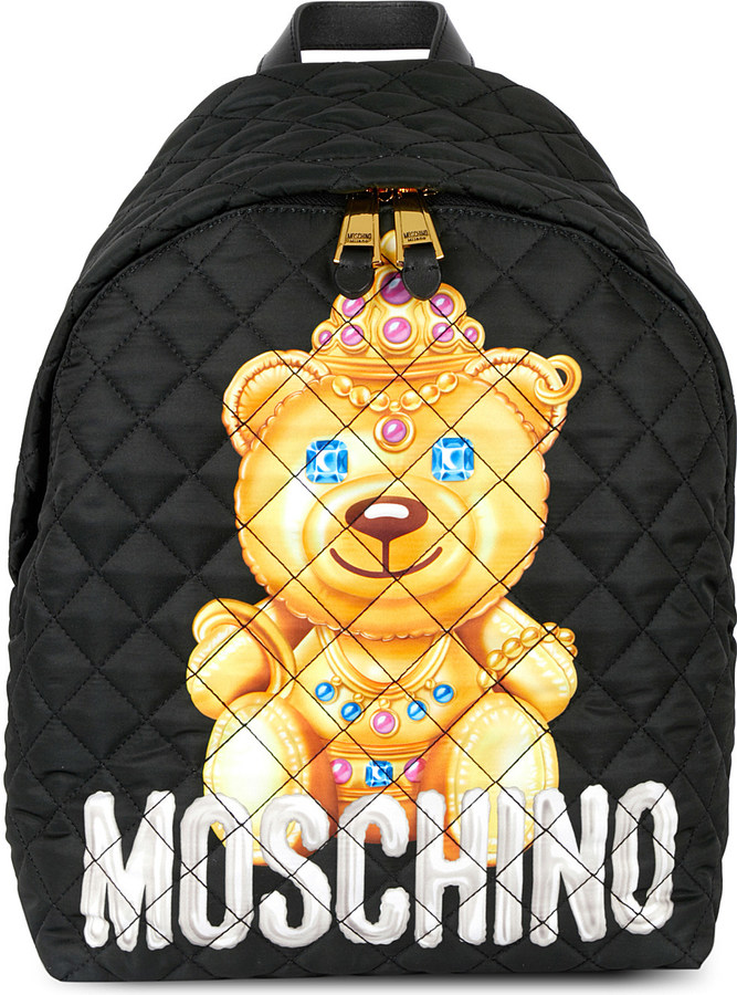 Moschino Moschino Bear logo padded backpack