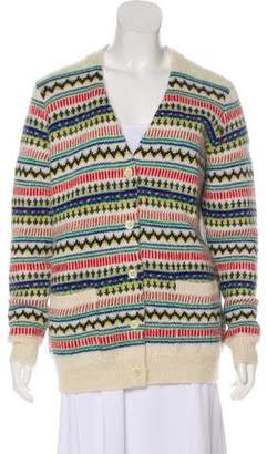 Saint Laurent Mohair & Wool-Blend Long Sleeve Cardigan