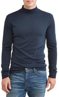 George Men's Long Sleeve Mock Neck, up to size 5XL