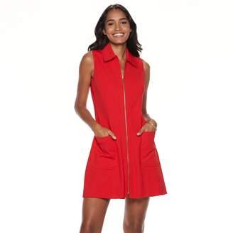Women's Sharagano Zip-Front Shirt Dress
