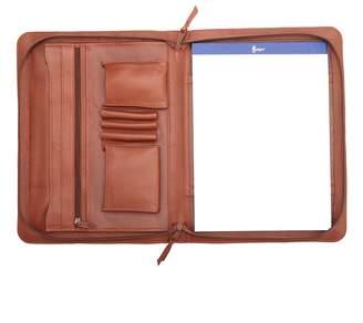 Royce Leather Executive Zip-Around Padfolio