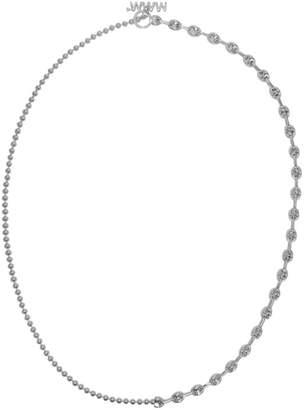 WWW.WILLSHOTT Silver 2-Link Split Chain Necklace