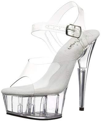 Pleaser USA Women's Delight-608 Ankle-Strap Sandal