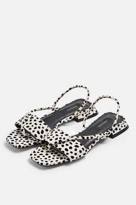 062ae51a92 Topshop Womens **Hester Black And White Sandals - Monochrome