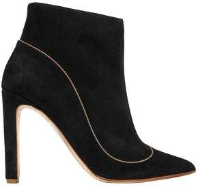 Rupert Sanderson Armada Chain-trimmed Suede Ankle Boots