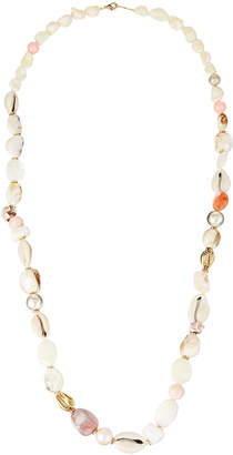 """A.V. Max Long Shell Knotted Necklace, 36""""L"""