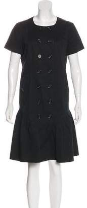 Burberry Button-Up Knee-Length Dress