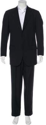 Kiton Striped Wool Suit