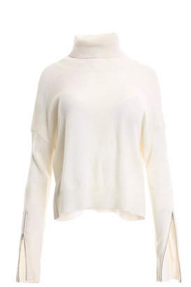Minnie Rose Cashmere Zippered Sleeve