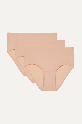 Chantelle Soft Stretch Set Of Three Jersey Briefs - Sand