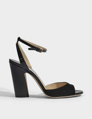 Jimmy Choo Miranda 100 suede and patent sandals