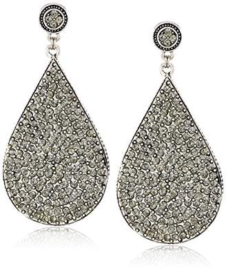 Azaara Crystal Black Swarovski Crystal Teardrop Earrings