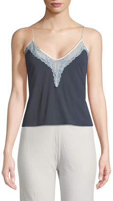 Neiman Marcus Skin Gia Lace-Trim Camisole